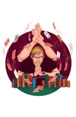 joueur poker zen jetons cartes